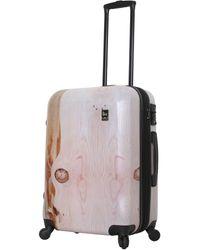 Mia Toro Naturia Hard Side 26in Luggage - Multicolour