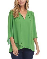 Karen Kane Crossover Top - Green