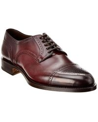 Santoni Leather Oxford - Red
