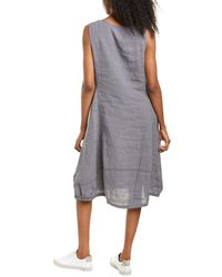XCVI Aldi Linen Shift Dress - Blue