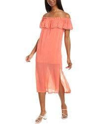 Maven West Off-the-shoulder Shift Dress - Red
