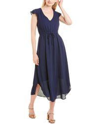 Three Eighty Two Gianna Midi Dress - Blue