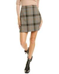 Theory Beck Wool-blend Wrap Skirt - Black