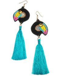 Shiraleah Toucan Earrings - Blue
