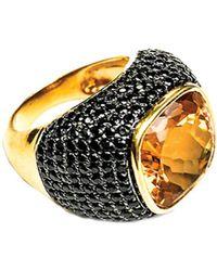 Arthur Marder Fine Jewelry Gold Over Silver Gemstone Ring - Metallic