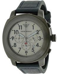 Armani - Leather Strap Watch - Lyst