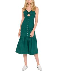 Endless Rose Linen-blend Midi Dress - Green