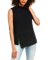 Vince Mixed Rib Wool & Cashmere-blend Sweater - Black