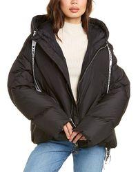 Khrisjoy Hooded Puffer Jacket - Black