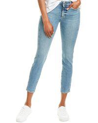 DL1961 Premium Denim Florence Edison Mid-rise Instasculpt Skinny Leg Jean - Blue