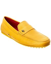 Tod's Tod?s X Ferrari Gommino Leather Loafer - Yellow