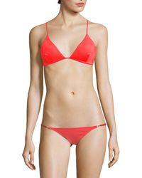 Melissa Odabash Bali Triangle Bikini Top - Red
