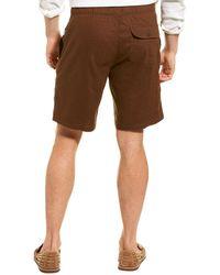 Onia Noah Full Elastic Linen-blend Short - Brown