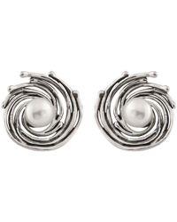Splendid - Silver 6-6.5mm Freshwater Pearl Earrings - Lyst