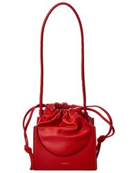 Yuzefi Pouchy Mini Leather Shoulder Bag - Red