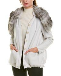 Giorgio Armani Blouson Wool & Silk-blend Jacket - Gray