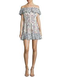 Tularosa - Floral A-line Dress - Lyst