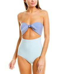 Onia Marie One Piece Swimsuit - Blue