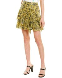10 Crosby Derek Lam Asymmetrical Ruffle Mini Skirt - Yellow