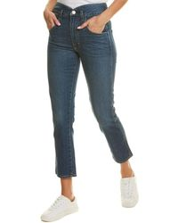 AMO Tulip Dark Vintage High-rise Slim Fit Straight Leg Jean - Blue