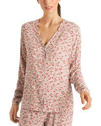 Hanro Sleep & Lounge Woven Shirt - Pink