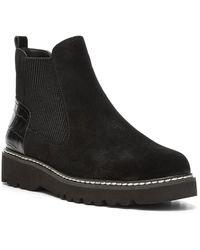 Donald J Pliner Carsyn Leather Chelsea Boot - Black
