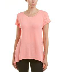 Splendid - Split Back T-shirt - Lyst