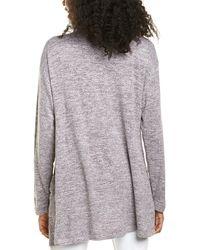 Bobeau Knit Cardigan - Grey