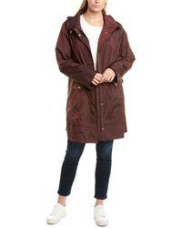 Cole Haan Plus Woven Rain Jacket - Brown