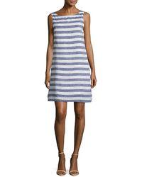 Beach Lunch Lounge Striped Sleeveless Dress - Blue