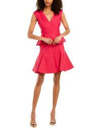 Halston Silk-blend Cocktail Dress - Pink