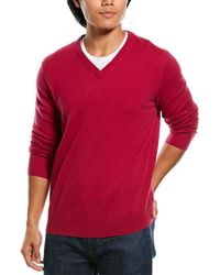 Phenix Cashmere V-neck Jumper - Pink