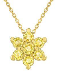 KC Designs 14k 0.40 Ct. Tw. Yellow Sapphire Necklace
