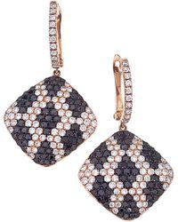 Sabrina Designs 14k Rose Gold 4.29 Ct. Tw. Diamond Dangle Earrings - Multicolour