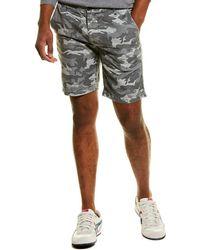 AG Jeans Slim Linen-blend Trouser Shorts - Gray