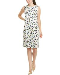 St. John Silk-blend Sheath Dress - Multicolour
