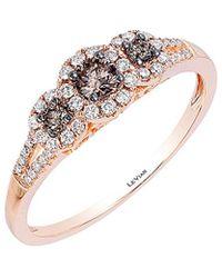 Le Vian 14k Rose Gold 0.37 Ct. Tw. White & Brown Diamond Ring - Multicolour