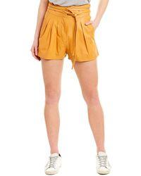 IRO Tenacity Leather Short - Orange