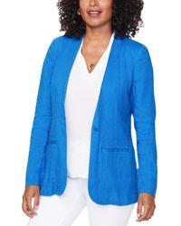 NYDJ Linen-blend Blazer - Blue