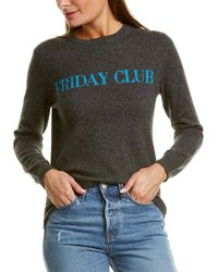 Chinti & Parker Friday Club Wool & Cashmere-blend Sweater - Gray