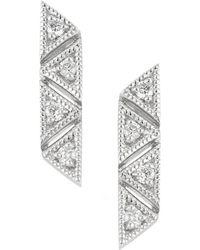 Dana Rebecca - Designs Kathryn Lynn 14k Diamond Bar Drop Earrings - Lyst