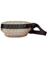 Burberry Medium Sonny Waist Bag In Beige Nylon - Natural
