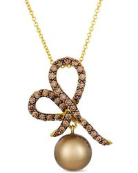Le Vian - ? 14k 0.66 Ct. Tw. Diamond & Tahitian Pearl Necklace - Lyst
