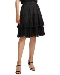 French Connection Clandre Vintage Lace Mix Skirt - Black