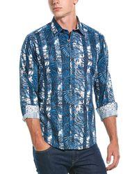 Robert Graham Thurston Classic Fit Woven Shirt - Blue