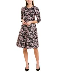 Teri Jon By Rickie Freeman A-line Dress - Black