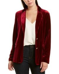 Joan Vass Petite Blazer - Red