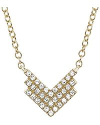 EF Collection - 14k Diamond Shield Necklace - Lyst