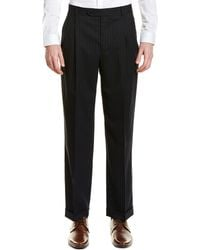 Brooks Brothers Madison Fit Pleated Wool Blend Trouser - Blue