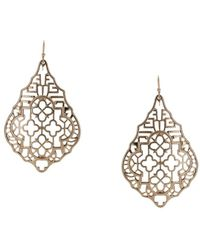 Sparkling Sage - Plated Drop Earrings - Lyst